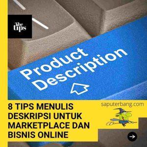 menulis deskripsi produk untuk bisnis online dan marketplace